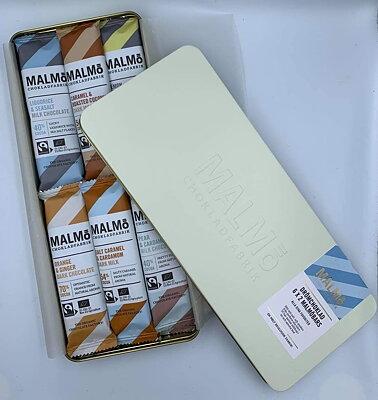 Bild av Malmö Chokladfabrik Drömchoklad i snygg plåtask