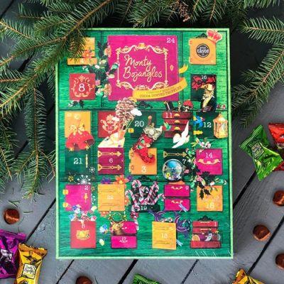 Bild av Julkalender med chokladtryfflar - Monty Bojangles, Grön