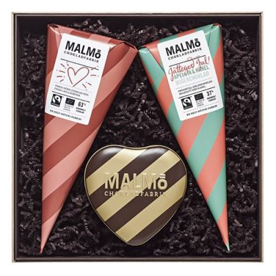 Bild av Malmö Chokladfabrik - Presentlåda, Jul med kärlek, Beige