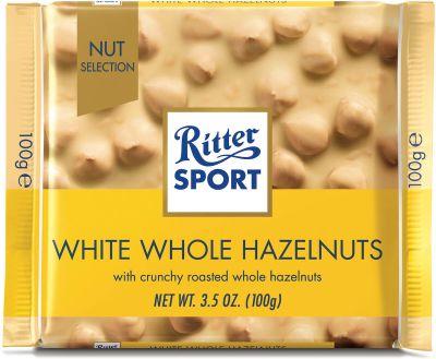 Bild av Ritter Sport White Whole Hazelnut 100g