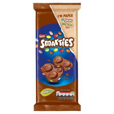 Bild av Smarties Milk Chocolate Block 90g