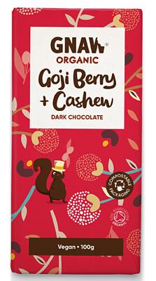 Bild av Chokladkaka Dark Chocolate Goji Berry & Cashew Ekologisk