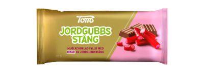 Bild av Toms Jordgubbsstång Choklad 80g