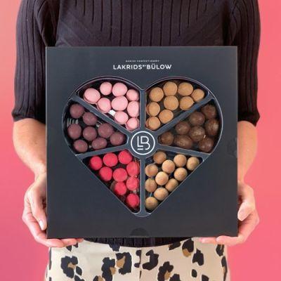Bild av Presentask med lakrits - Love Selection Box, Svart