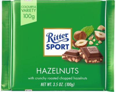 Bild av Ritter Sport Milk Chocolate Hazelnut 100g