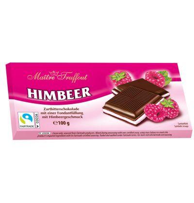 Bild av Maitre Truffout Mörk choklad m. Hallonkräm 100g