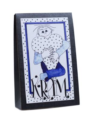 Bild av Presentask med choklad 'Kram' - Blå