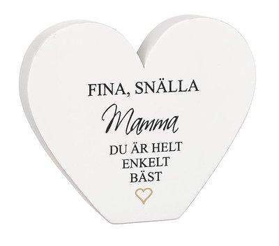 """Bild av Stående hjärta med text - """"Fina, Snälla Mamma..."""" - à 59 kr"""