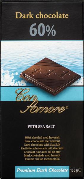 Bild av Con Amore Dark Chocolate Sea Salt 100g