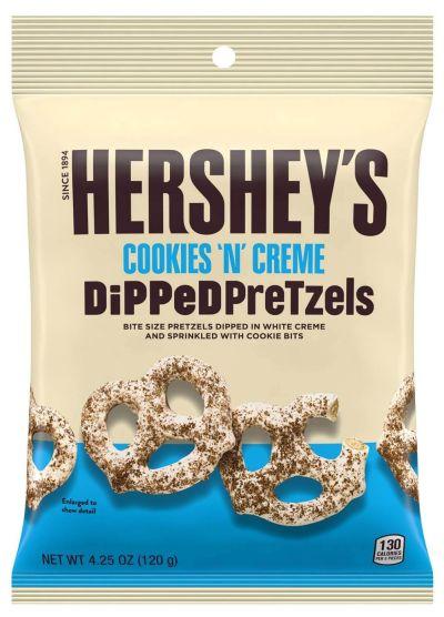 Bild av Hersheys Cookies N Creme Dipped Pretzels 120g