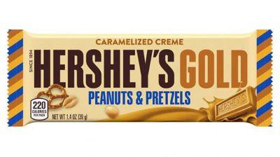 Bild av Hersheys Gold Caramelized Creme Bar - Peanuts & Pretzels 39g