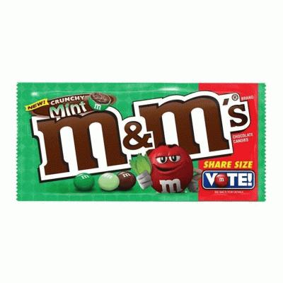 Bild av M&Ms Crunchy Mint 80g
