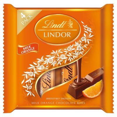 Bild av Lindor Milk Chocolate Orange Bars 100g