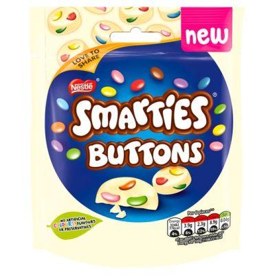 Bild av Nestle Smarties Buttons White Chocolate 85g