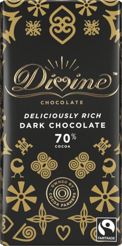 Bild av Divine Chocolate 70% Dark Chocolate 90g