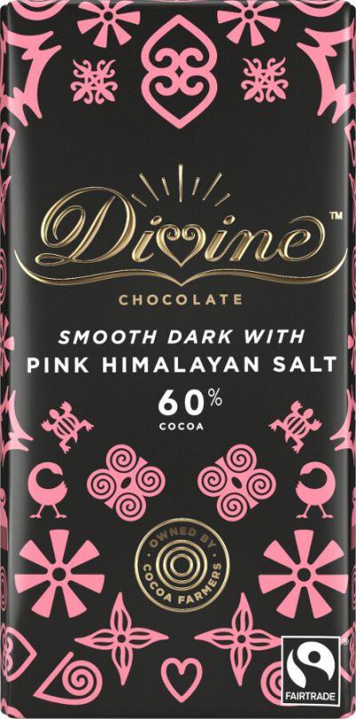 Bild av Divine Chocolate Dark Chocolate & Sea Salt 90g