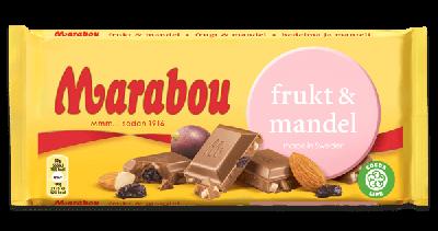 Bild av Marabou Frukt & Mandel 100g