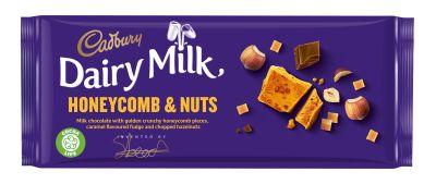 Bild av Cadbury Dairy Milk Inventor Crunchy Honeycomb & Nuts 105g