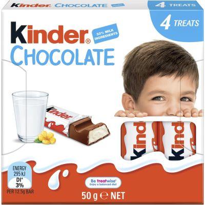 Bild av Kinder Chocolate 4p 50g