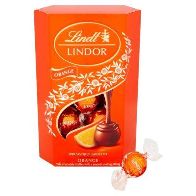 Bild av Lindor Milk Orange Truffles 200g