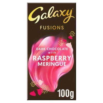 Bild av Galaxy Fusions Dark Chocolate Raspberry Meringue 100g