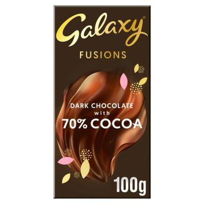 Bild av Galaxy Fusions Dark Choc 70% Cocoa 100g